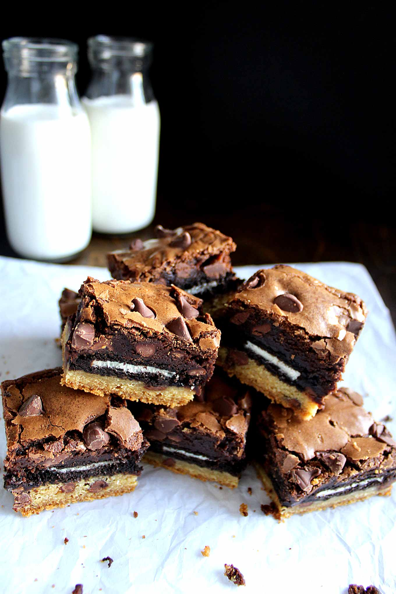 Chocolate Chip Cookie Brownies Pinterest