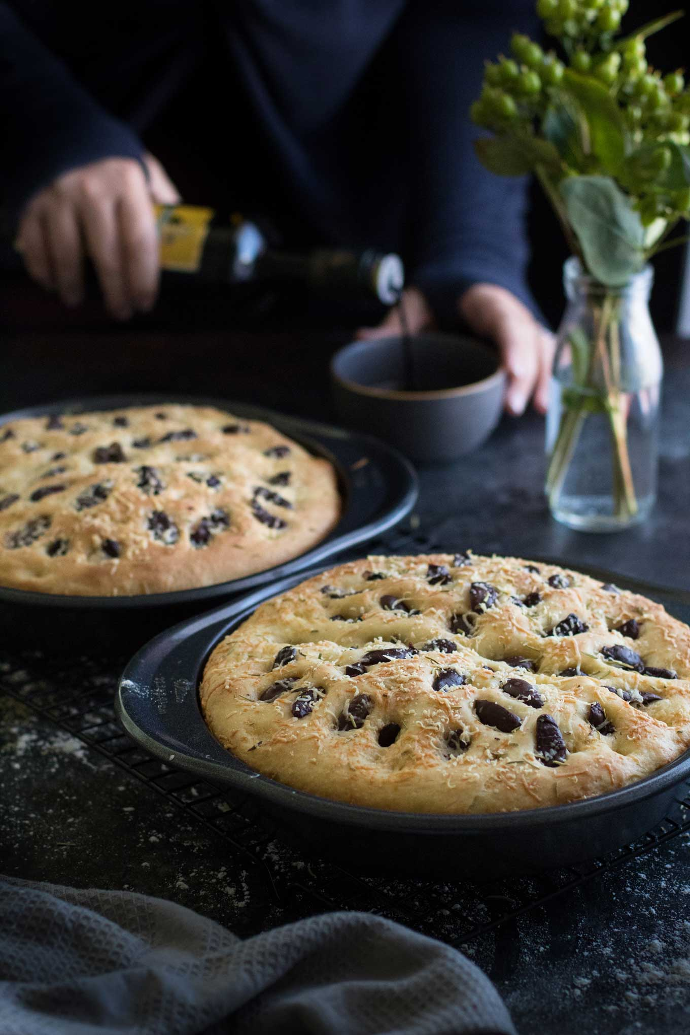 Parmesan Olive Focaccia with Rosemary & Sea Salt | wyldflour